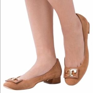 Tory Burch Shoes - TORY BURCH Gigi Royal Tan Suede Pump